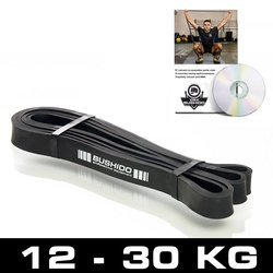 Guma treningowa Power Band - guma CZARNA DO 16 kg