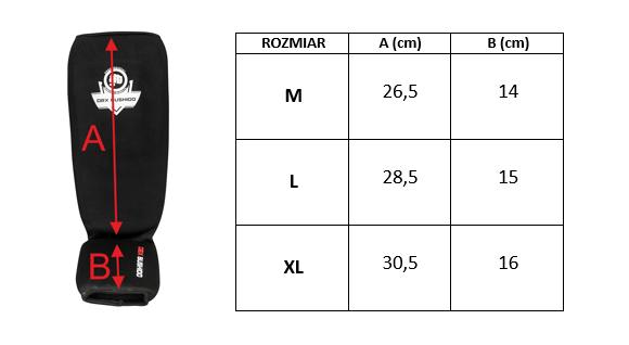 ochraniacze elastyczne na piszczele rozmiar
