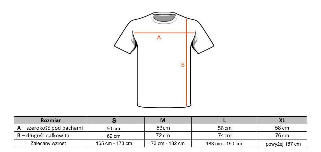t-shirt rozmiary
