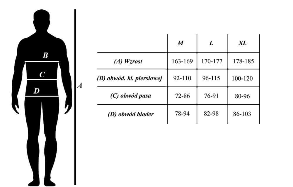 Rashguard tabela rozmiarów